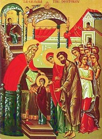 Icon of The Entrance of the Theotokos into the Temple