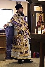 Father Alexander serving a Litya for Departed, September 14, 2014