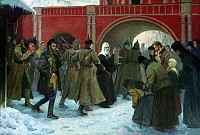 St. Tikhon being arrested by Bolsheviks